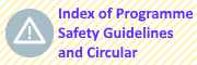 Index of Programme Safety Guidelines and Circular